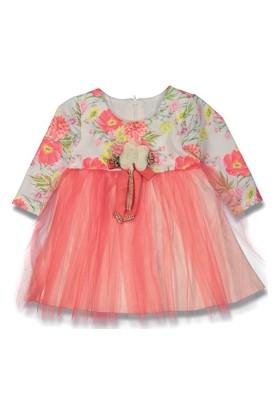 Aykon Baby Çiçek Desenli Tüllü Kız Elbise