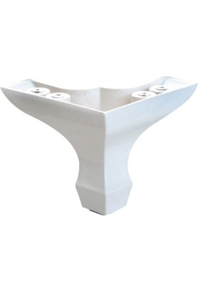Canteks Lükens Ayak Mini Beyaz 8 Cm