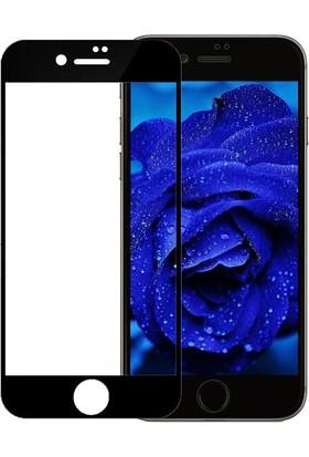 Engo Apple iPhone 7 5D 9H Kavisli Tam Korumalı Temperli Ekran Koruyucu Cam Siyah
