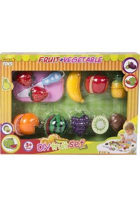 Furkan Kesme Tahtalı Oyuncak Meyve Kesme Seti - 18 Parça
