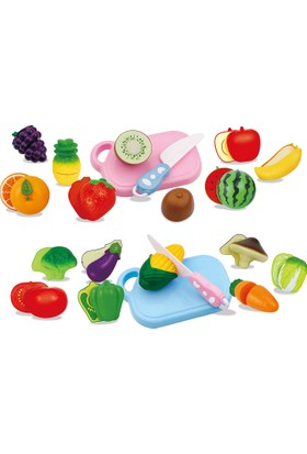Furkan Oyuncak Sebze Meyve Kesme Seti 2 Adet Kesme Tahtalı - 36 Parça-2 Kutu