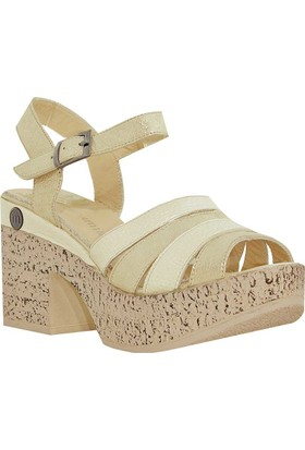 Mammamia D18Ys-5235 Deri Kadın Sandalet Dore