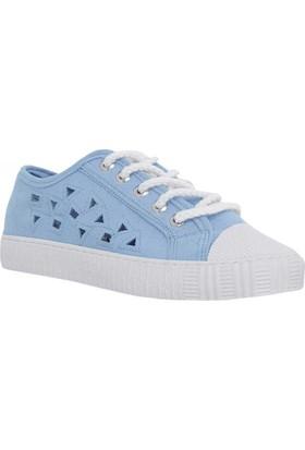 Stella 8064 Keten Kadın Ayakkabı Mavi