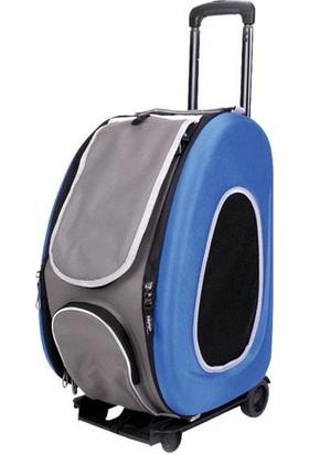 Bobo Tekerlekli Trolley Kedi Köpek Taşıma Çantası Mavi