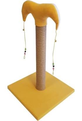 Bedspet Şapkalı Kedi Tırmalaması Sarı 50Cm