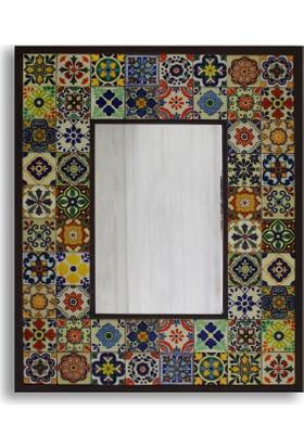 Atölye Hezarfen Meksika Desenli Seramik Ayna