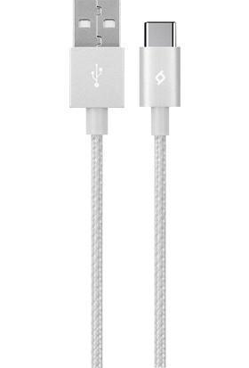 Ttec AlumiCable Type-C Şarj Kablosu Gümüş 2DK18G