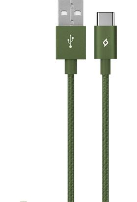 Ttec AlumiCable Type-C Şarj Kablosu Haki Yeşili 2DK18HY