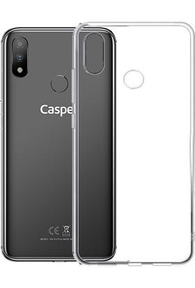 Case 4U Casper Via A3 Plus Kılıf Şeffaf Silikon Arka Kapak