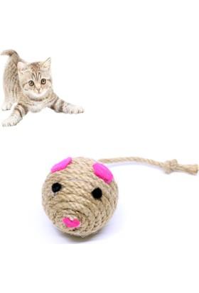 Petviya Kuyruklu Hasır Top Kedi Oyuncağı 5 Cm