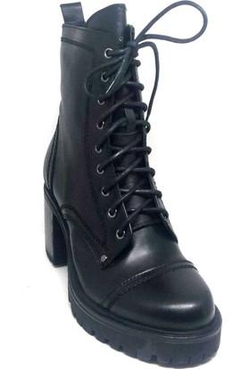 Shop And Shoes 007-1032540 Kadın Bot Siyah Süet