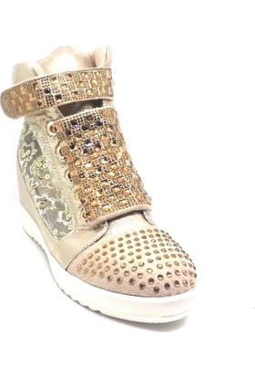 Shop And Shoes 015-SCR-30A Kadın Bot Altın