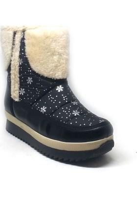 Shop And Shoes 155-228D Kadın Kar Botu Siyah