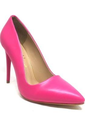Shop And Shoes 164-2005 Kadın Stiletto Fuşya