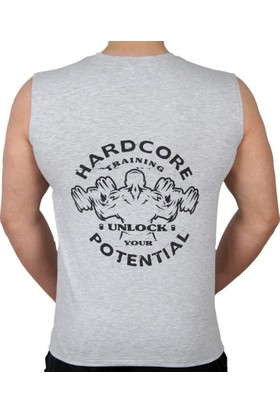 Supplementler Hardcore Potential Kolsuz T-Shirt Gri