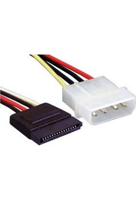 Zoomex SS-1052 Sata Power Kablosu 15CM 4P/15P
