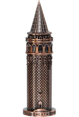 KameT Galata Kulesi Metal Biblo Antik Bronz