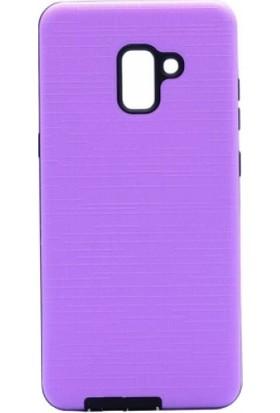 Aplus Samsung Galaxy A6 2018 Ultra Koruma Darbe Emici New Youyou Silikon Kılıf - Mor