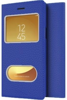 Aplus Samsung Galaxy J7 Pro Kılıf Kapaklı Pencereli Gizli Mıknatıslı Dolce Lacivert