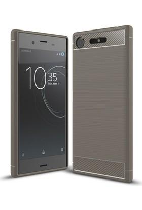 Aplus Sony Xperia XZ1 Ultra Koruma Silikon Room Kılıf - Gri