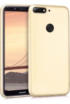Aplus Honor 7X Ultra İnce Yumuşak Silikon Premier Kılıf - Gold