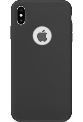 Aplus Apple iPhone Xs Max Kılıf Ultra İnce Yumuşak Silikon Premier - Siyah