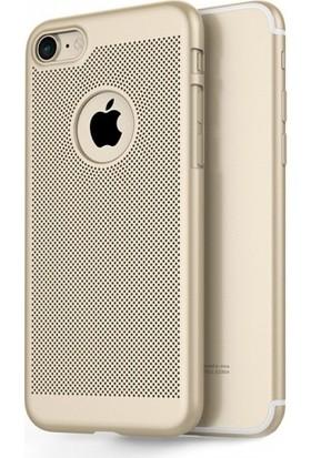 Aplus Apple iPhone 5 / 5S / Se Arkası Delikli Rubber İnce Kılıf - Gold