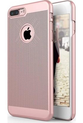 Aplus Apple iPhone 7 Plus Arkası Delikli Rubber İnce Kılıf - Pembe