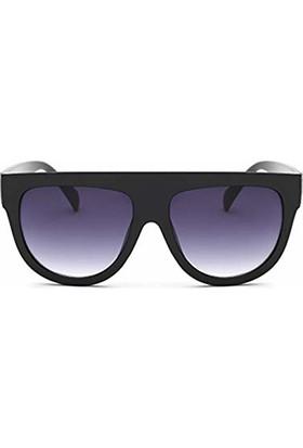 Jwl Modern Büyük Çerçeve Kadın Güneş Gözlüğü Siyah