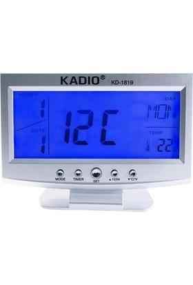 Kadıo Alkış Sensörlü Led Dijital Masa Saati (Alarm + Tarih/Saat + Sıcaklık Ölçer Termometre)