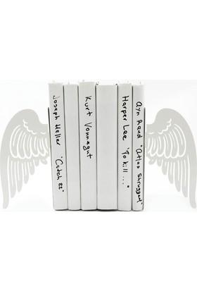 Simge Yapı Dekorasyon Melek Kanatları Figürlü Dekoratif Metal Kitap Tutucu