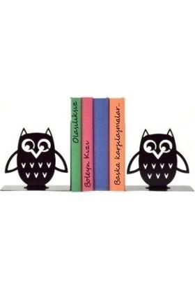 Simge Yapı Dekorasyon Baykuş Figürlü Dekoratif Metal Kitap Tutucu