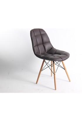 Sandalye Hane Eames Dikişli Deri Sandalye