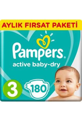 Prima Bebek Bezi Aktif Bebek 3 Beden Midi Aylık Fırsat Paketi Paket 180 Adet