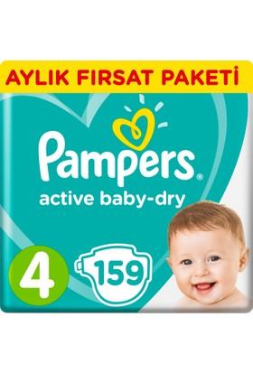 Prima Bebek Bezi Aktif Bebek 4 Beden Maxi Aylık Fırsat Paketi Paket 159 Adet