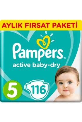 Prima Bebek Bezi Aktif Bebek 5 Beden Junior Aylık Fırsat Paketi Paket 116 Adet