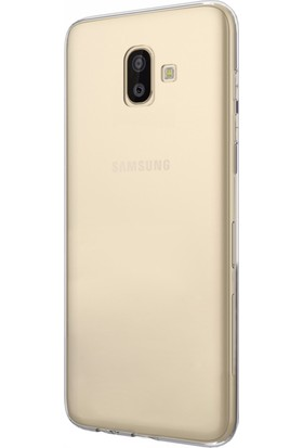 Microsonic Samsung Galaxy J6 Plus Kılıf Transparent Soft Beyaz