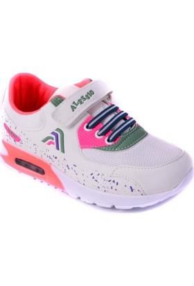 Alessio Beyaz Pembe Çocuk Spor Ayakkabısı