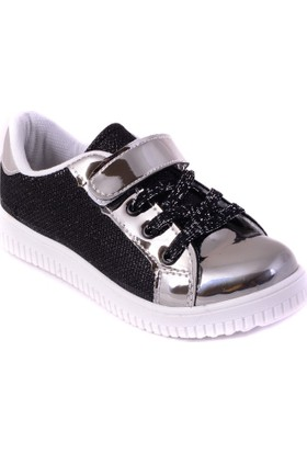 Alessio Siyah Gri Rugan Kız Spor Ayakkabısı