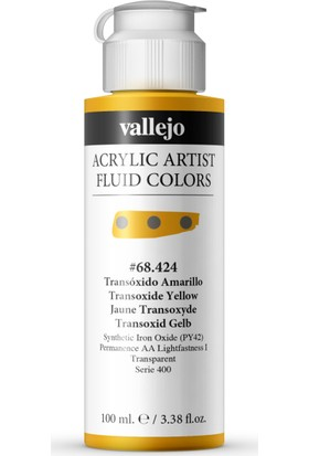 Vallejo Fluıd Acrylıc 100Ml S2 68.424 Transoxıde Yellow