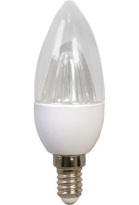 Levahouse E-14 Duylu Şeffaf Mum Led Ampul Beyaz Işık