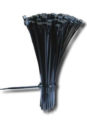 Çet-San Kablo Bağı - Cırt Kelepçe 3,6X300 (100 Adet) Siyah