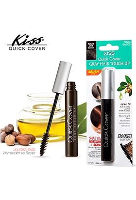 Kiss Quick Cover Beyaz Saç Kapatıcısı - Koyu Kahve