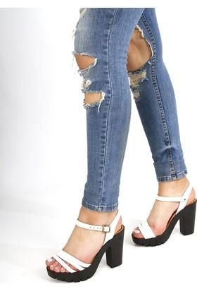 Gön Deri Kadın Sandalet 45115