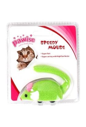Pawise Kurmalı Fare Kedi Oyuncağı Yeşil 8 Cm