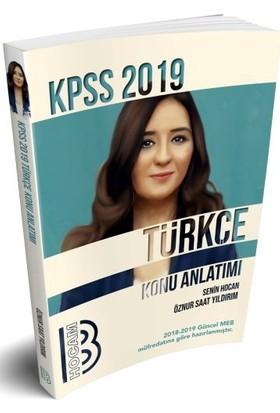 Benim Hocam Yayınları 2019 KPSS Türkçe Konu Anlatımlı - Öznur Saat Yıldırım