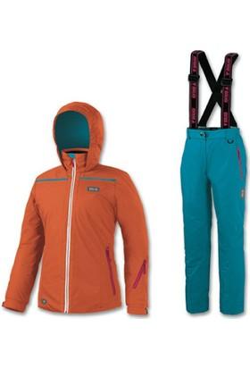 Brugi JW44 Çocuk Kayak Giysi Takımı (Turuncu-Mavi)