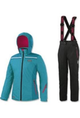 Brugi JW44 Çocuk Kayak Giysi Takımı (Mavi-Siyah)