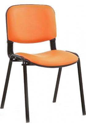 Coşkun Büro Turuncu-Deri Form Sandalye