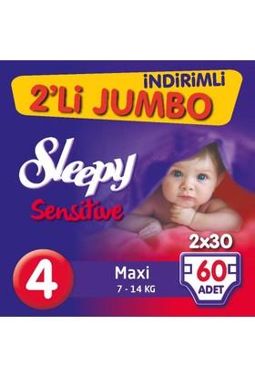 Sleepy Pepee 2'li Jumbo Maxi 4 Beden 60 Adet 7 - 14 kg